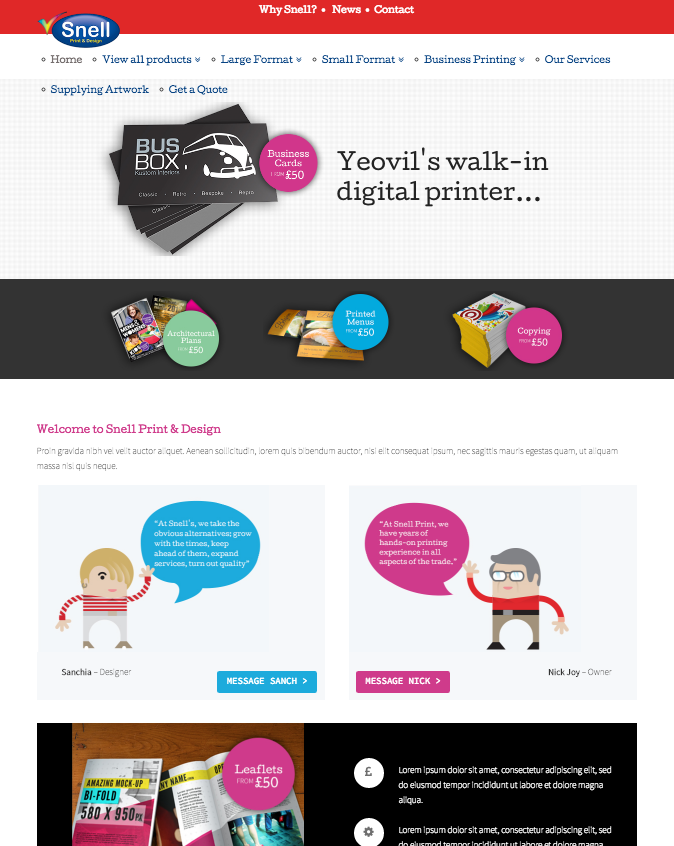 Snell Print New Website